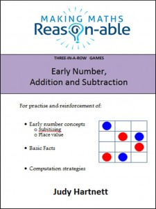 Three-in-a-row game book - early number addition subtraction math resources for teachers